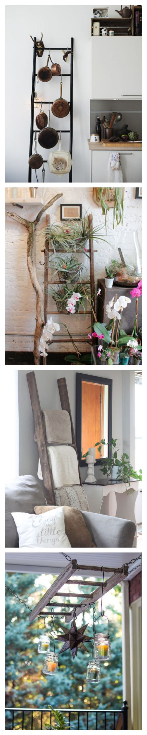 Best 25+ Old ladder ideas on Pinterest | Old ladder decor, Old ladder shelf  and Decorating with ladders