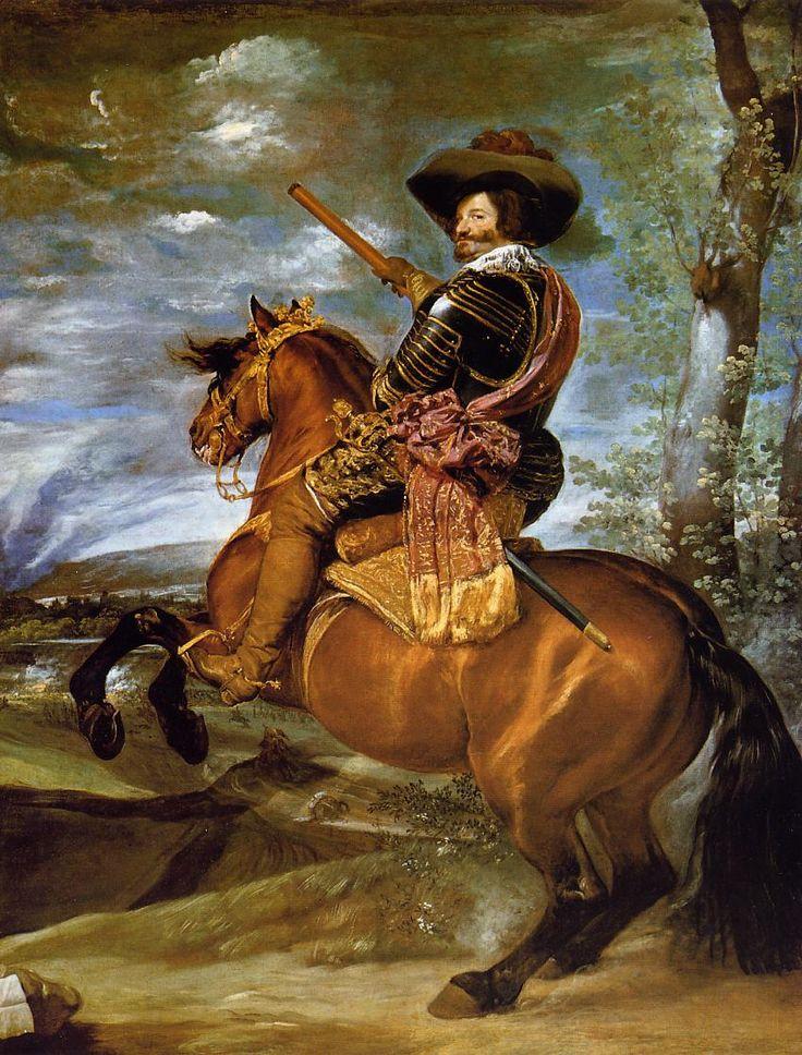 Equestrian Portrait of Don Gaspar de GuzmanCount Duke of Olivares - Diego Velazquez