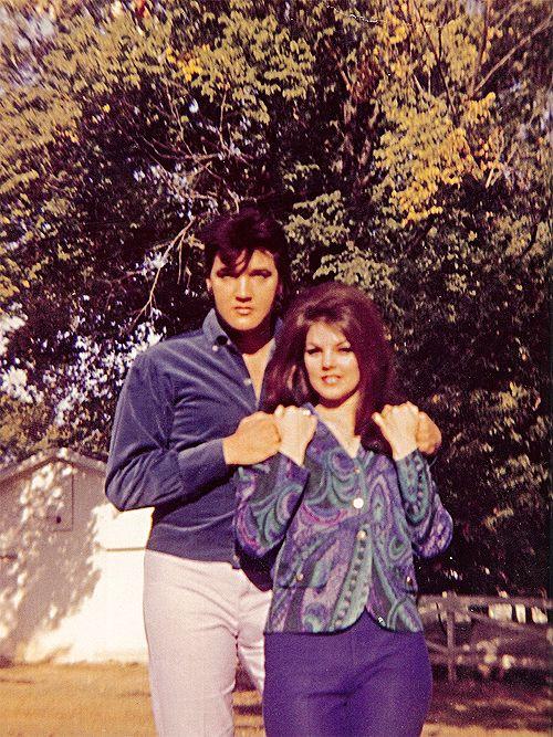 Elvis and Priscilla Presley photographed in 1968.