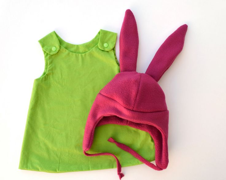 pink bunny ears costume, girls green dress costume, pink bunny ears hat, girls halloween costume by TopOfTheBeanstalk on Etsy https://www.etsy.com/listing/468022961/pink-bunny-ears-costume-girls-green