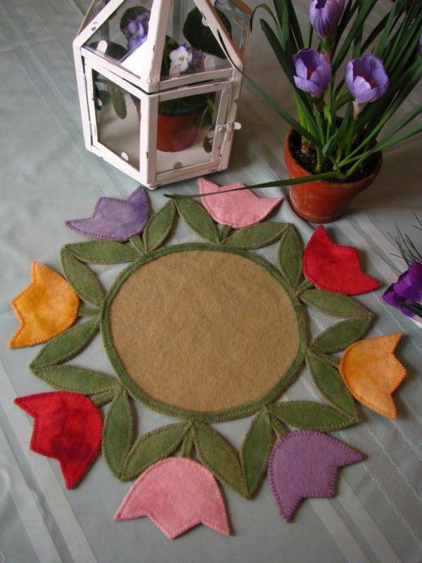 spring tulip penny mat
