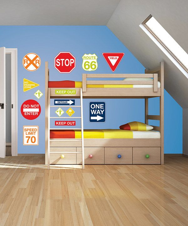 Take a look at this Road Signs Wall Decal Set on zulily today!