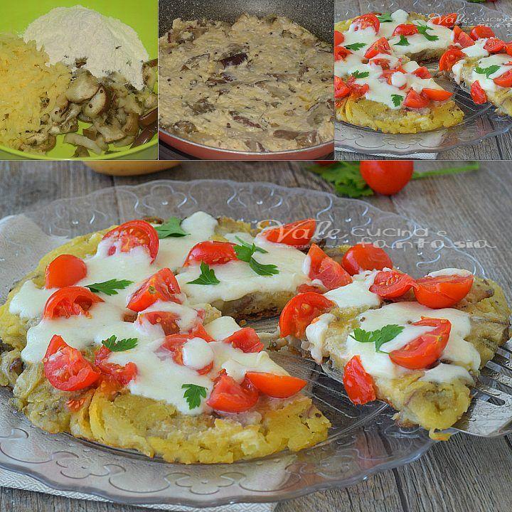 Tortino di patate e melanzane