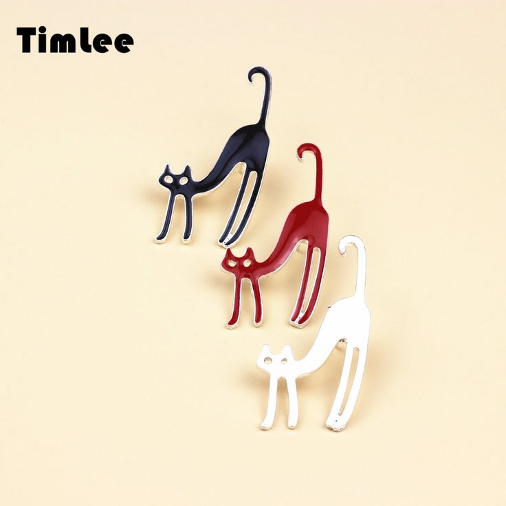 X078  Free shipping Cute Lazy Cat Metal Girl Gift Brooch Pins,Fashion Jewelry Wholesale