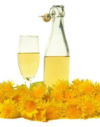 Dandelion Wine -       Half gallon of dandelion petals     2.2 lbs. granulated sugar     1 lb. golden raisins     Juice and zestof one lemon and two oranges     White wine yeast     Yeast nutrient