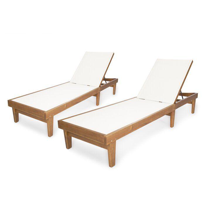 Dereham Outdoor Reclining Chaise Lounge In 2020 Lounge Chair Outdoor Teak Chaise Lounge Outdoor Chaise