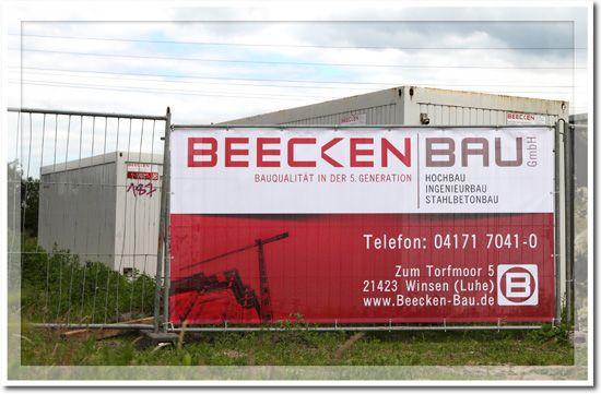 Plane für Bauzaun für die BeeckenBau GmbH