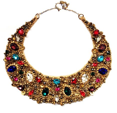 Multicoloured Neck Collar | Hand embroidered and crafted using high quality crystals and embellishments perfect to add to your accessories collection!