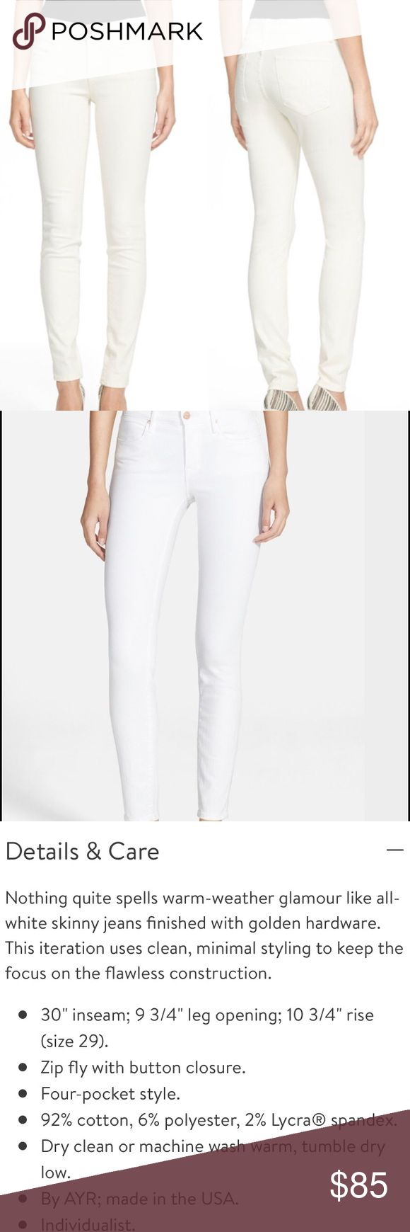 AYR skinny jeans In new condition skinny jeans.  See details in picture. These are exclusive for Nordstrom stores only!  Would also fit a 28! ARY Jeans Skinny