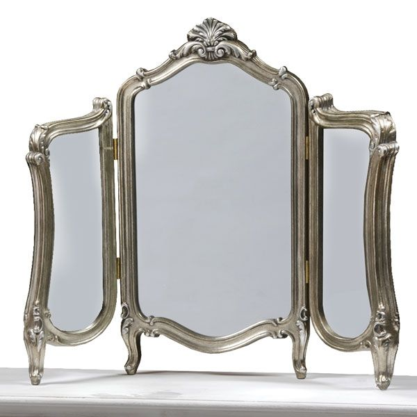 Antique Silver Regency Dressing Table Mirror