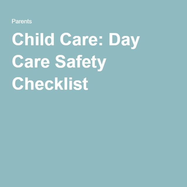 Child Care: Day Care Safety Checklist