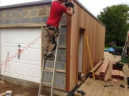 two-storey garage brick and timber clad - Google Search
