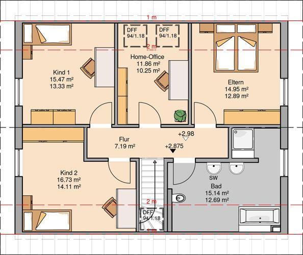 206 best grundrisse images on pinterest house floor plans blueprints for homes and bungalow. Black Bedroom Furniture Sets. Home Design Ideas