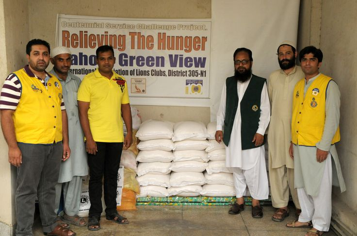 Lahore Green View #LionsClub (Pakistan) distributed food packages to people in need