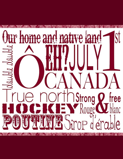 free Canada Day printable! @Diane Wilcoxon +Guss @Julia Richey Pearl PR #PCCanadaDay