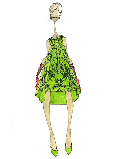 J.Larkowsky Illustration | When two Worlds Collide: Oscar de la Renta Fall 2013