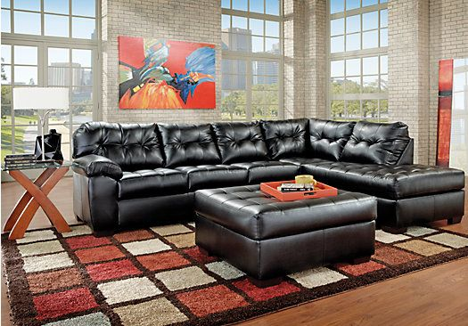 Great Shop For A Angelo Bay Onyx Blended Leather 3 Pc Sectional Living Room At Rooms  To Go. Find Leather Living Room Sets That Will Look Great In Your Hu2026
