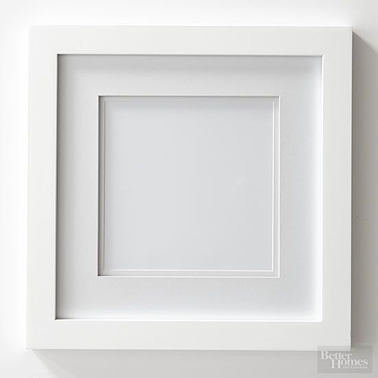 Grab a basic white frame, then let your inner artist shine. These ideas show just how versatile that inexpensive, off-the-rack buy can be./