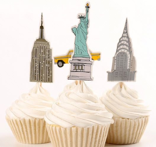 Themenparty NYC Cupcake Toppers