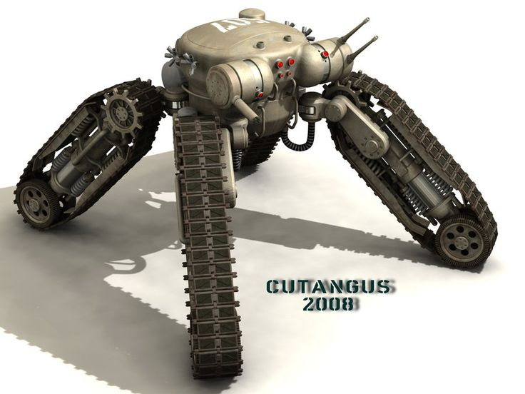 TRACKED-LEGGED COMBAT ROBOT by CUTANGUS.deviantart.com on @deviantART