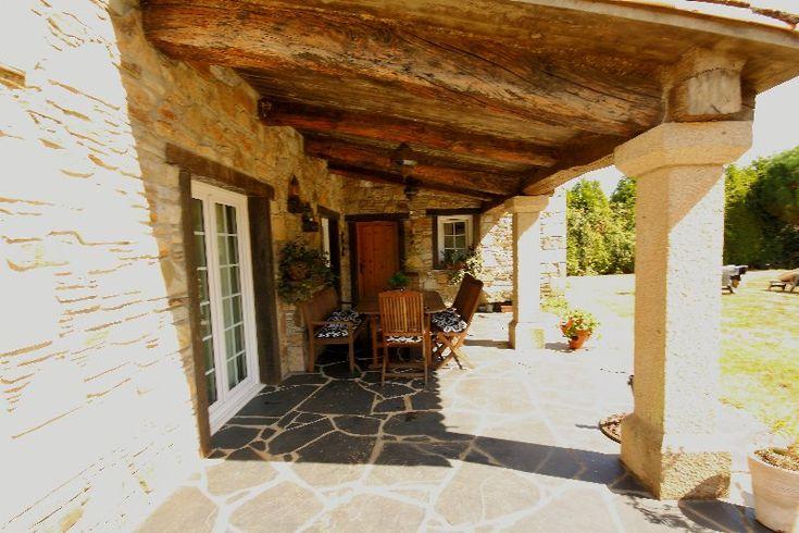 Mejores 133 im genes de casas con porche en pinterest - Casas de piedra galicia ...