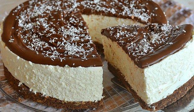 Kokosový dort nepečený