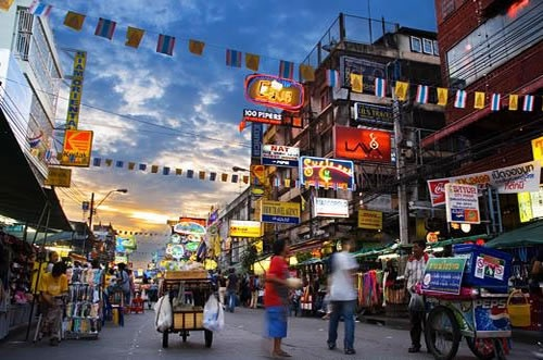 Khao San Road, somewhere in Thailand.