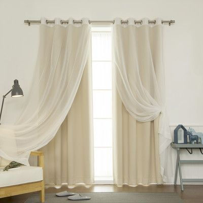 House of Hampton Gregg Blackout Thermal Curtain Panels Color:
