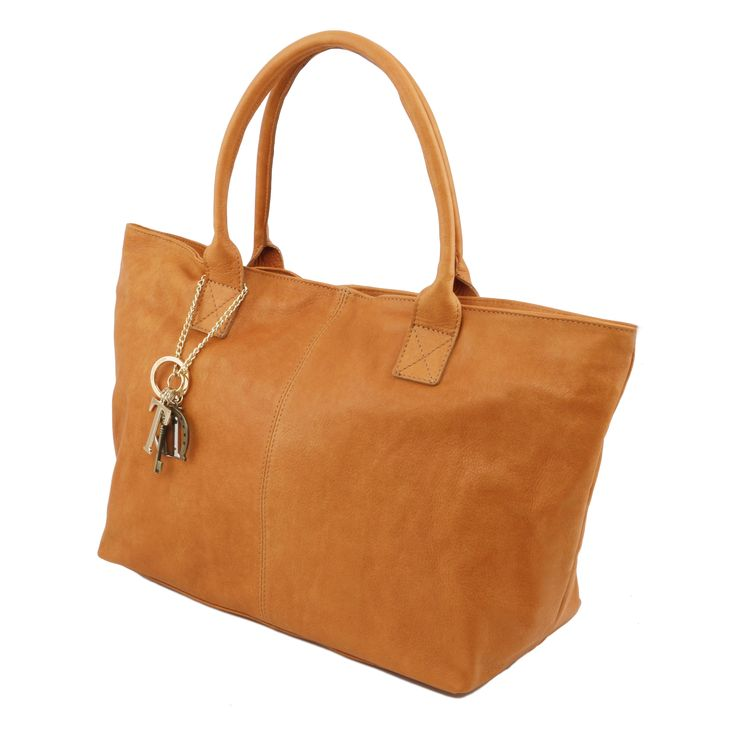 Leather Shoulder Bag Genuine soft leather,Soft structure (€165.00)