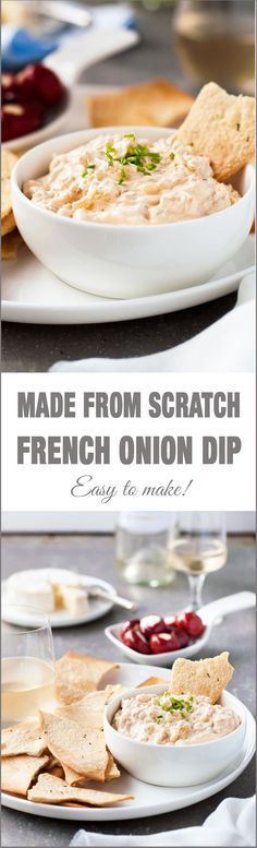 Homemade French Onion Dip - Barefoot Contessa's simple recipe is insanely good…