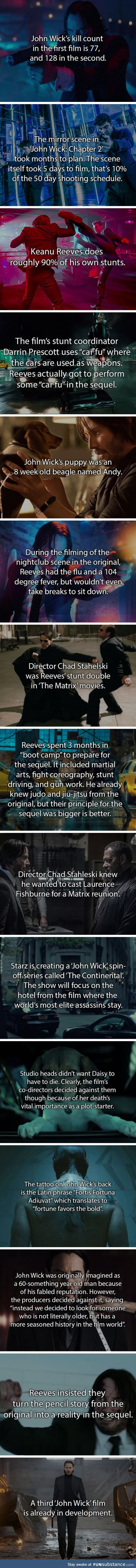 Well, the creators revealed he actually killed 84 in the first movie, and Keanu Reeves was and still is in his 50's