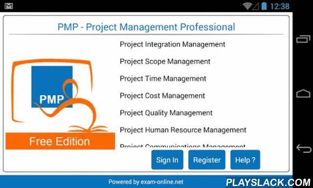 PMP Exam Online Free  Android App - playslack.com , PMI's Project Management Professional (PMP)® credential is the most important industry-recognized certification for project managers. Globally recognized and demanded, the PMP® demonstrates that you have the experience, education and competency to lead and direct projects. The PMP Exam-online.net app is for PMP Certification aspirants as well as Project Management Professionals. It provides the learning tools in the form of Flash Cards…