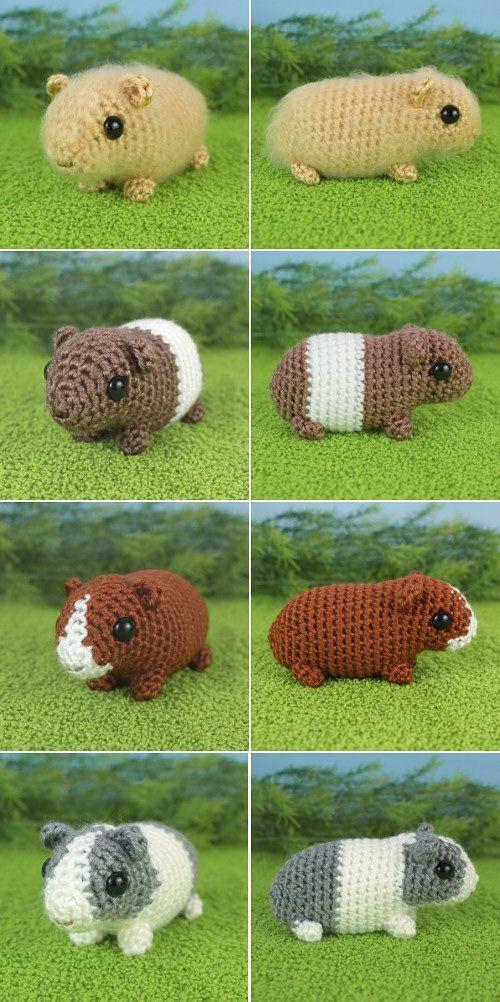 Baby Guinea Pigs crochet pattern by PlanetJune