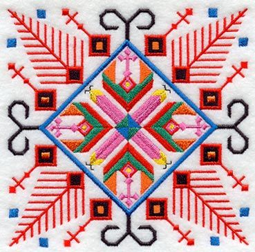 The traditional Bulgarian embroidery is characterized by high artistic value of the designs.
