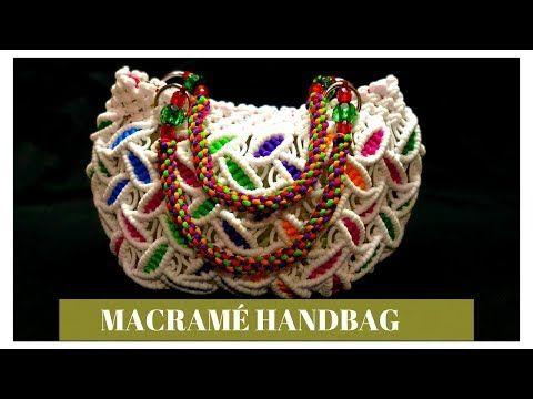 DIY how to make circular leaf design macrame handbag | small handbag tutorial - YouTube