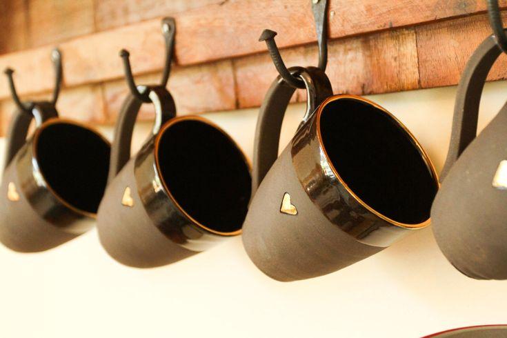 set of 6 Unique Coffee mug, Ceramic mugs, black coffee mug, set of 6 pure gold heart mugs , coffee mug. by HadasShallom on Etsy https://www.etsy.com/listing/234208322/set-of-6-unique-coffee-mug-ceramic-mugs
