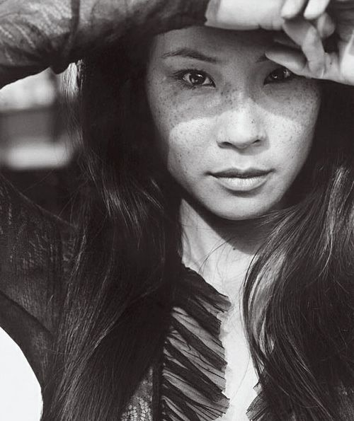 I love how Lucy Liu is Asian AND has freckles. :)  I can't say I've seen that combination of traits on anyone else.