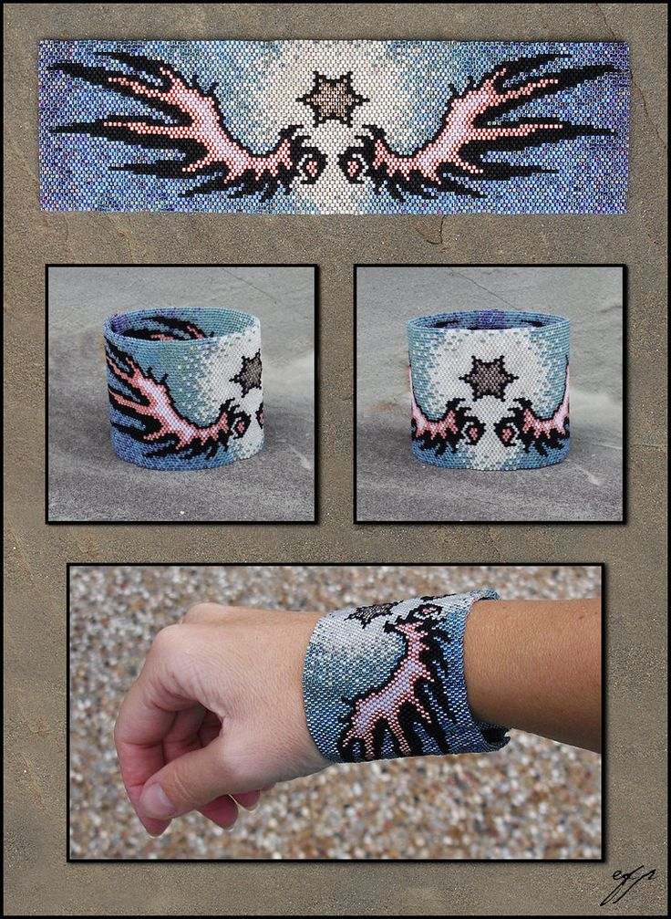 Wings And Star By Ellygator On Deviantart Beading