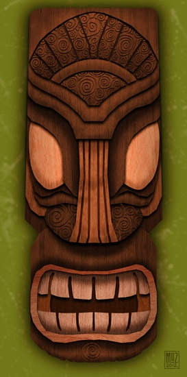 Wooden Tiki Head Drawing 42 best Tiki inspirati...