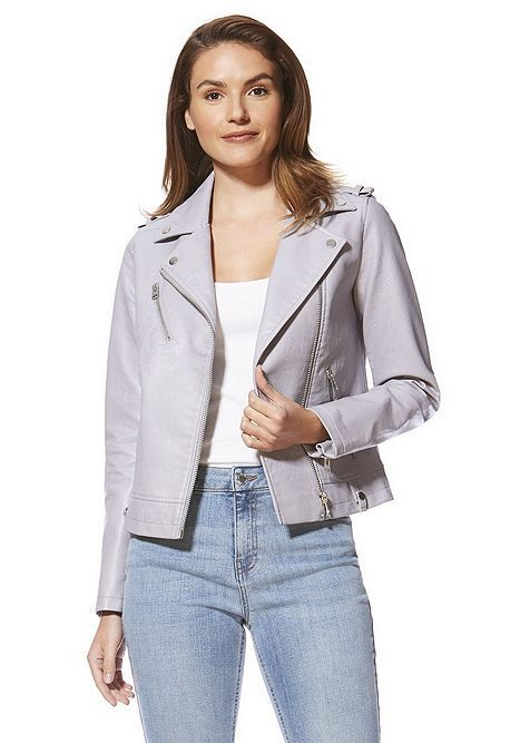 782421c2e5063 Tesco direct: F&F Faux Leather Biker Jacket | coats/jackets. in 2019 ...