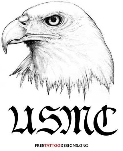 military tattoo eagle head and usmc tats pinterest