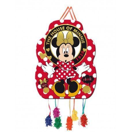 Piñata de cumpleaños de Minnie Mouse en tonos rojos #cumpleañosminnie #cumpleminnie #minniemousebirthday #minniebirthday #fiesatminniemouse #fiestaminnie #minniemouseparty #minnieparty #minnierosa #minnieroja #decoracionfiestaminnie #globosminnie #velaminnie