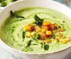 Kartoffel-Spinat-Suppe, vegan