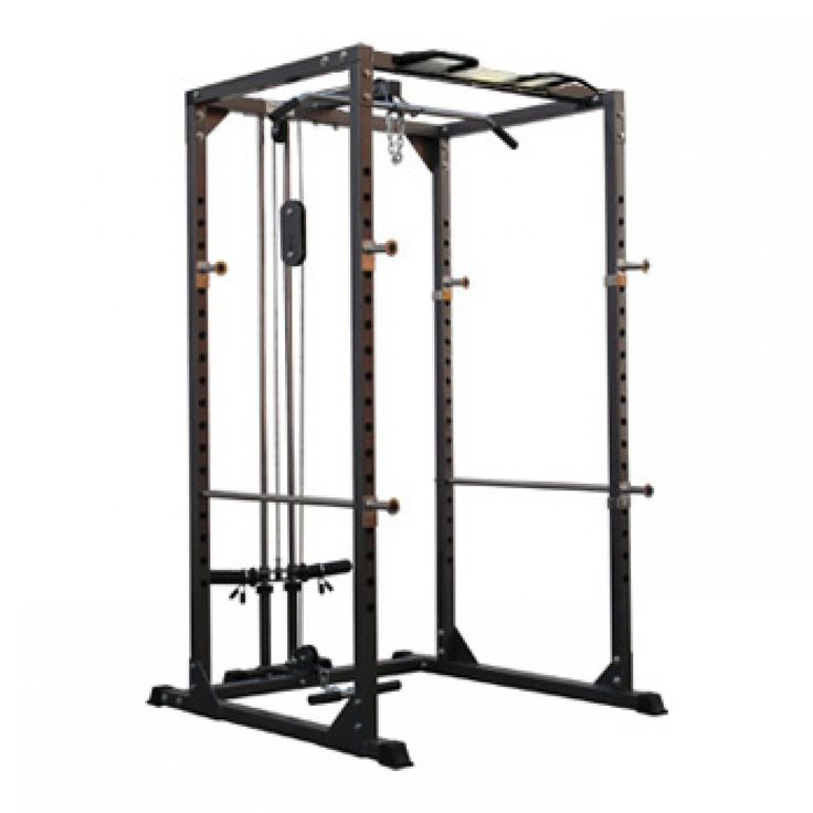 Bodymax Cf375 Power Rack System With Lat Low Pulley
