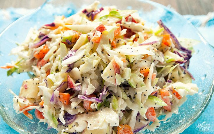 Coleslaw With Apples and Poppy Seeds - add honey to taste - otherwise too sour.