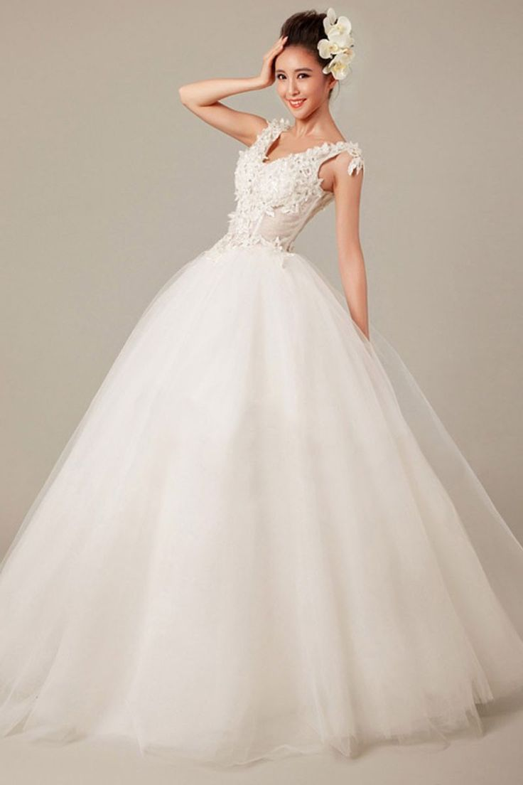 ball gown v neck sleeveless appliques floor length wedding dress only 19499 buy wedding dress onlineaffordable