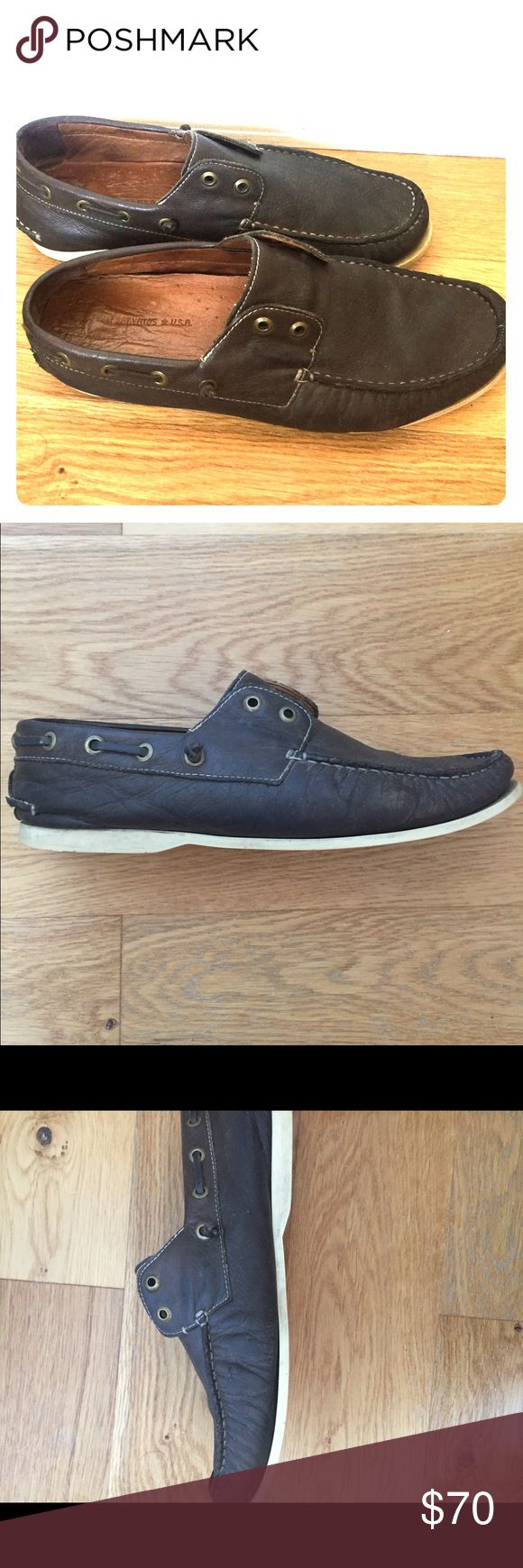 John Varvatos Leather Boat Shoes Boat shoes from John Varvatos - about 2 years old but didn't really wear them that much so they're in solid condition. John Varvatos Shoes Boat Shoes