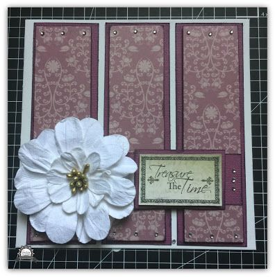 Couture Creations: Treasure the Time Engagement Card by Tracey Rohweder