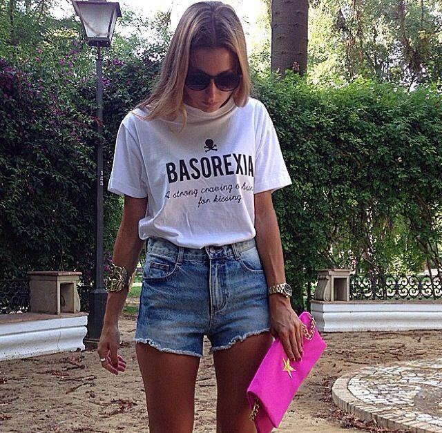 Maria Perez with BASOREXIA tee