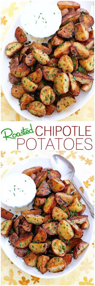 Baby red potatoes coated in a spicy chipotle sauce and roasted to perfection!